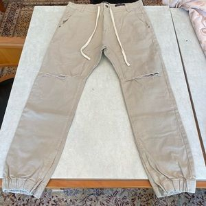 COTTON ON BEIGE SLIM DENIM JOGGERS